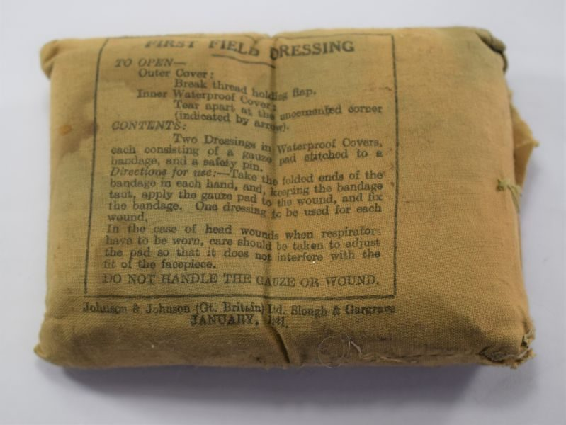 Original WW2 British Military Issue First Field Dressing Dated 1941
