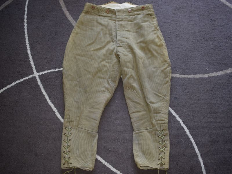 Unusual Khaki Corduroy Breeches WLA, WW1 WW2 British Officers?