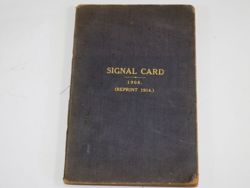 Original WW1 Royal Navy Signal Card Dated 1914