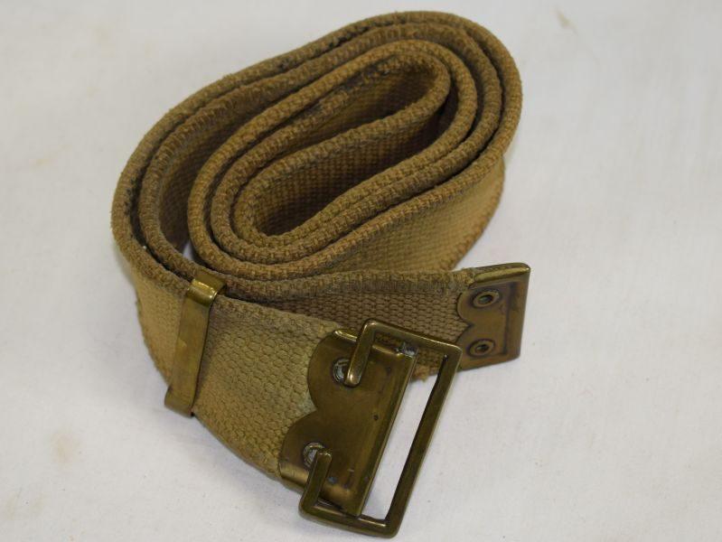 60 Original Well Used British Army 1903 Pattern Webbing Waist Belt
