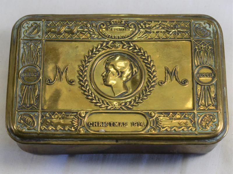 Original WW1 British Princess Mary Christmas 1914 Gift Tin