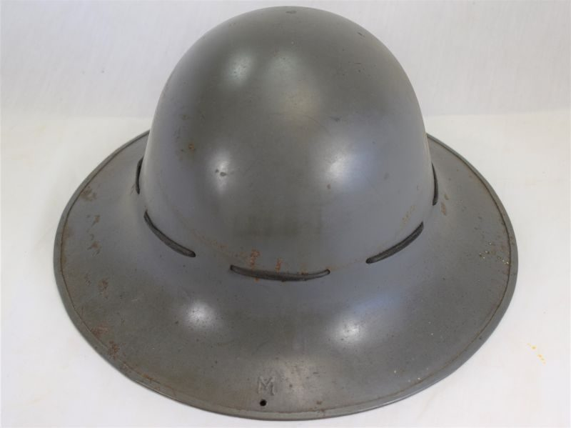 Excellent Original WW2 British Home Front Zuckerman Steel Helmet 1941