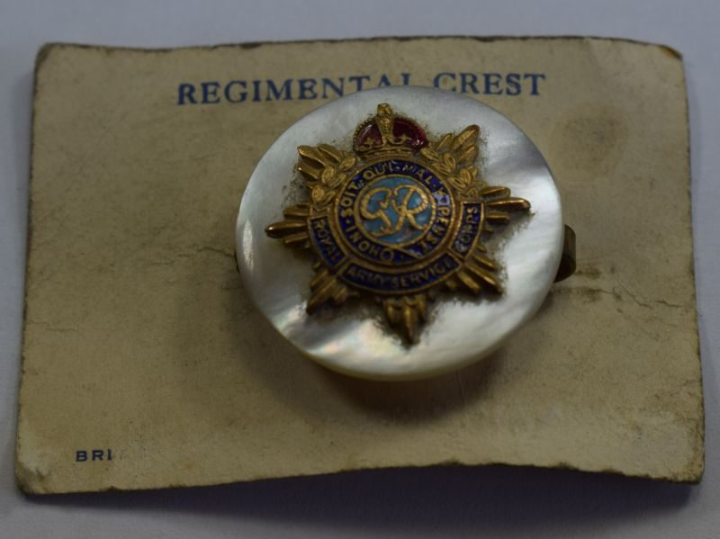 3 Original WW2 Royal Army Service Corps Sweetheart Brooch & Backing Card