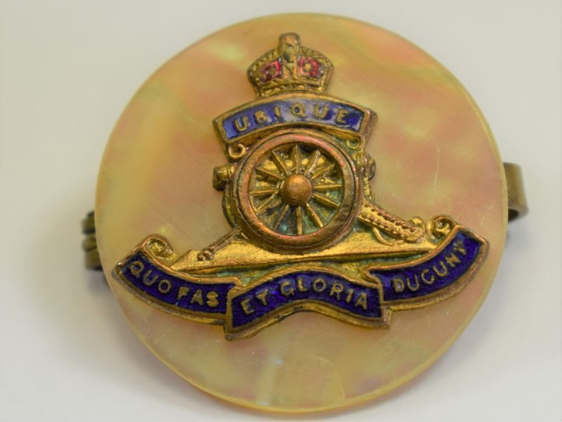 6 Original WW1 WW2 Royal Artillery Sweetheart Brooch