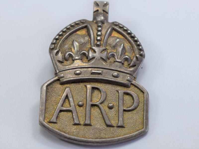 21 Original WW2 ARP Lapel Badge Hallmarked London 1938