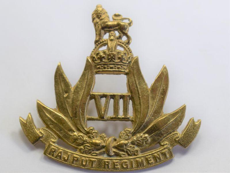 28 Original WW1 WW2 Indian 7th Rajput Regiment Brass Cap Badge