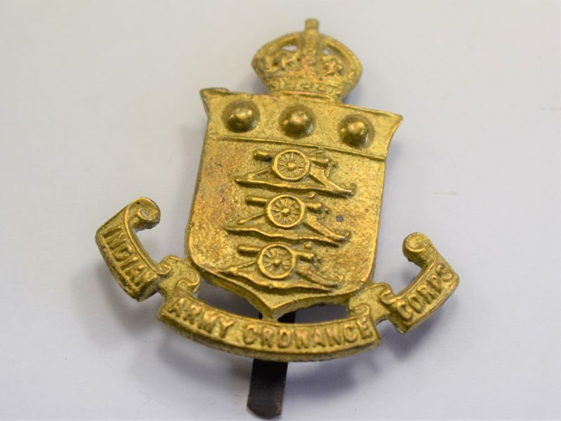 29 Original WW1 WW2 Indian Army Service Corps Brass Cap Badge