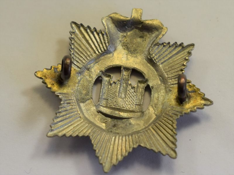 32 Original Victorian The Devonshire Regt Bi-metal Cap Badge