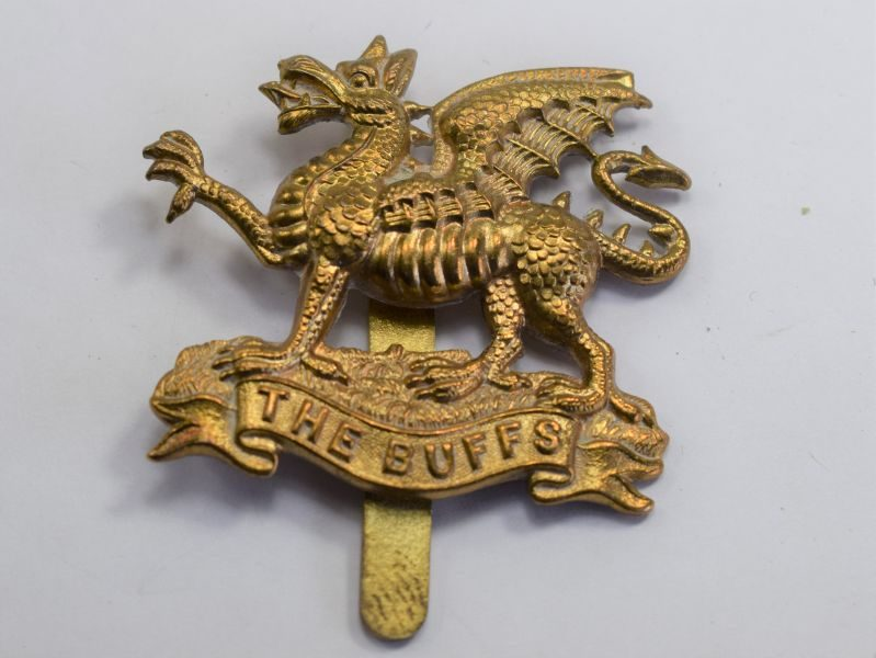 37 Original WW1 WW2 The Buffs Brass Cap Badge