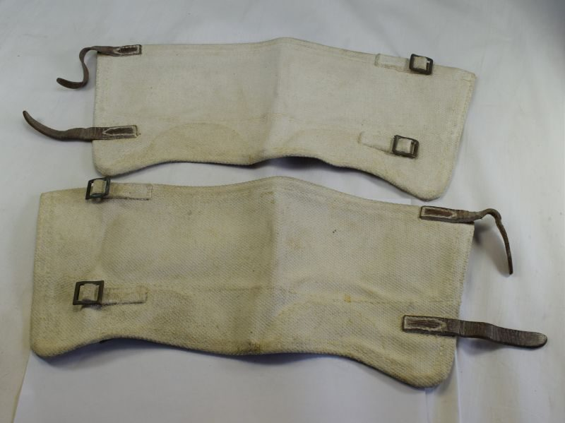 WW2 British Army Military Police? White Anklets Dated 1942