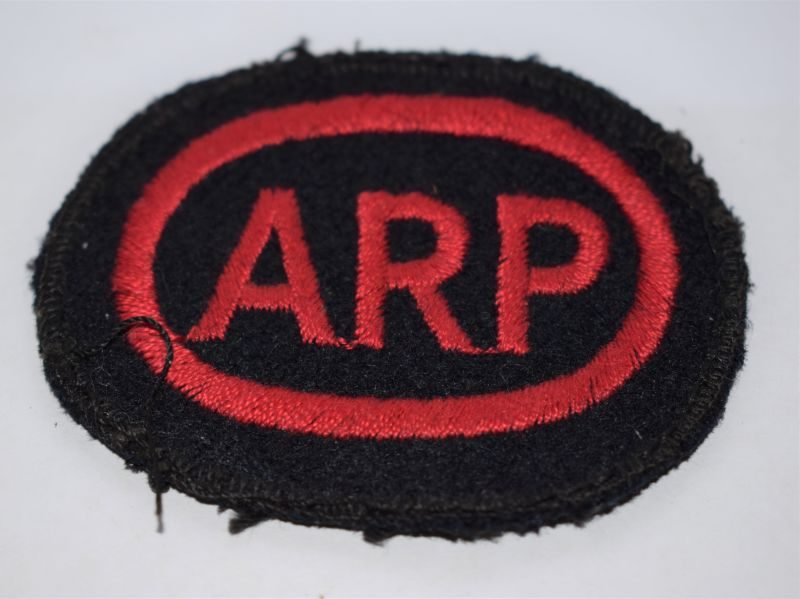 Original WW2 ARP Boiler Suit Oval Breast Badge