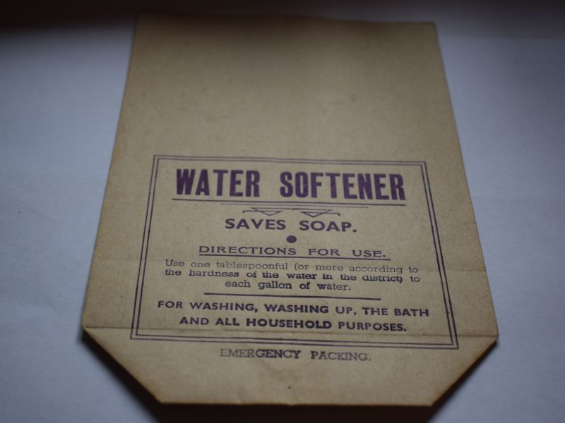 65 Interesting WW2 Water Softener Economy All Purpose Soap Powder Bag