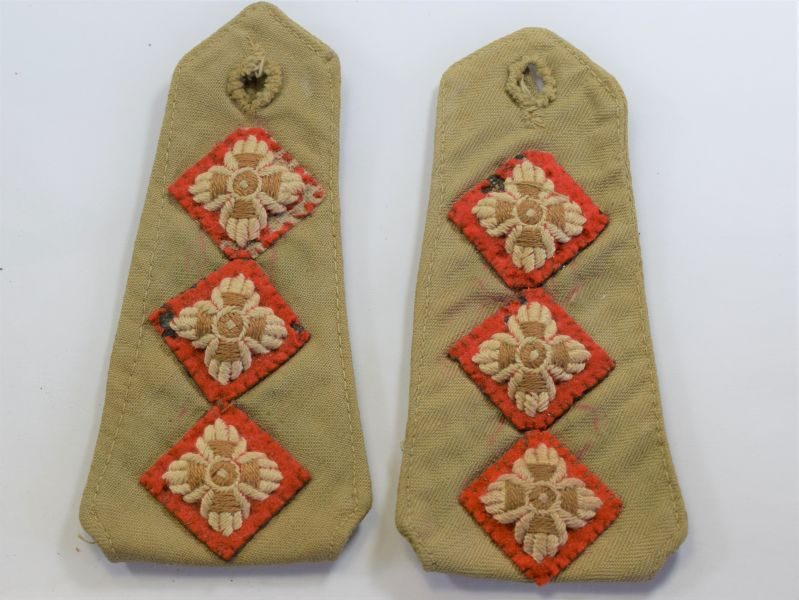 41 WW2 British Army Officers Removeable Epaulettes from US Made KD HBT Shirt/Jacket