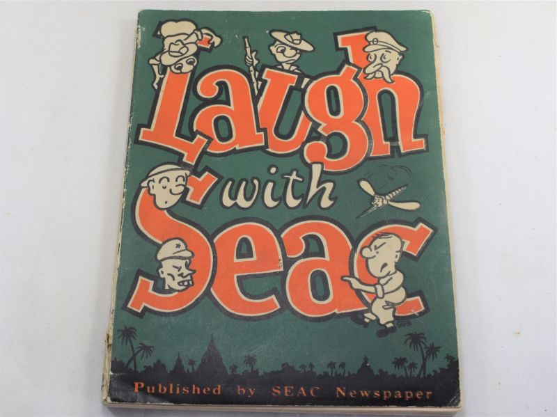 Excellent Late WW2 Comical Cartoon Book Laugh with SEAC