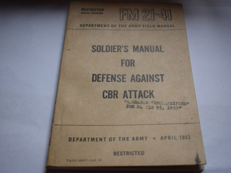 72 Original US Korean War Soldiers Manual Defense Against CBR Attack