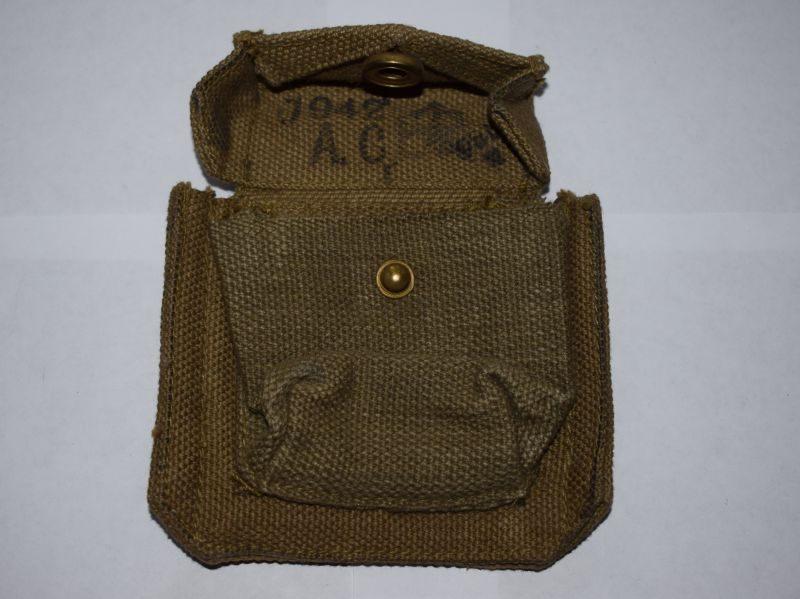Mint Unissued British 37 Pattern Webbing Pistol Ammo Pouch A.C. 1942