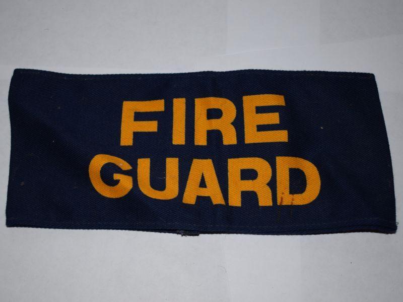Original WW2 British Home Front Fire Guards Printed Armlet