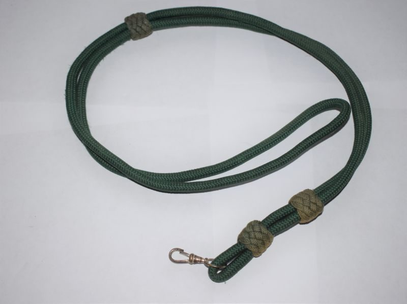 Unidentified Regt British Army Green Lanyard with Watch or Whistle clip