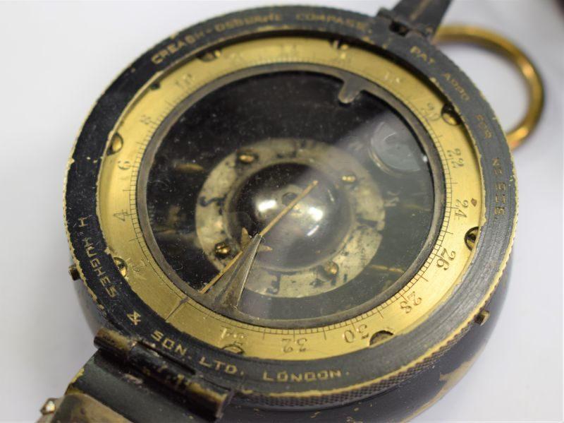 Early Pre WW1? British Creagh-Osborne Compass by H.Hughes & Son Ltd London.