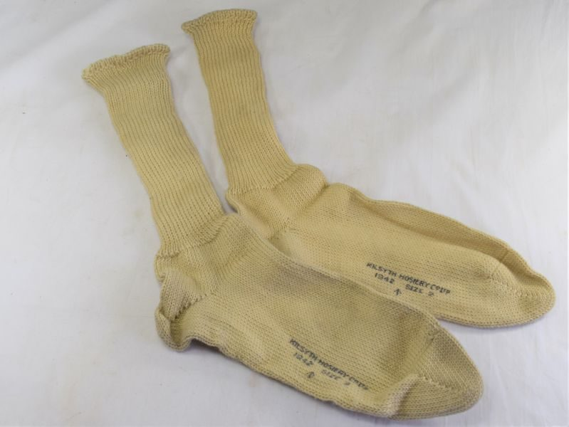 Original Matching WW2 RN & RAF Issue Sea Boot Socks 1942