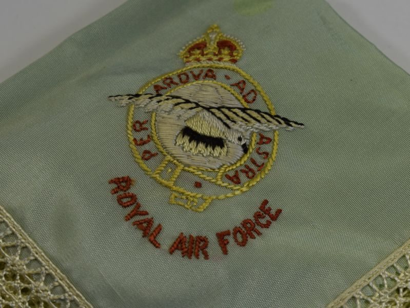 Original WW2 RAF, WAAF Sweetheart Hanky & Powder Puff
