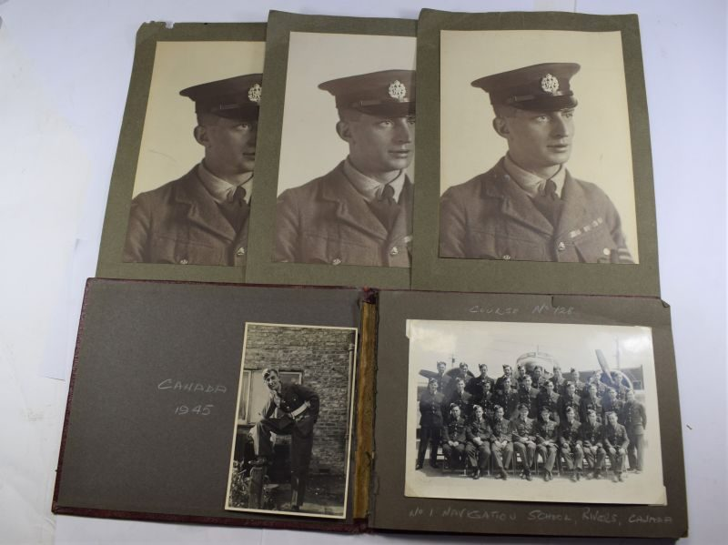 YY Interesting Late WW2 RAF Airman's Photo Album Training in Canada