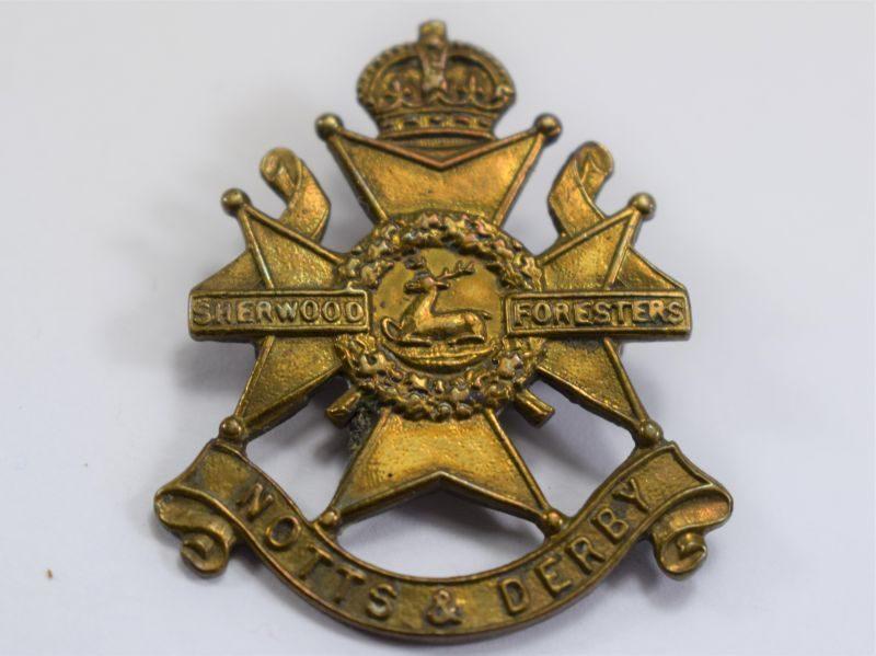 1 WW1 WW2 Knotts & Derby Sherwood Foresters Pin Back Brooch