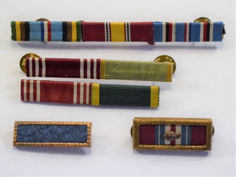 Set of 5 Original WW2 Post War? US Army Medal Ribbon Bars