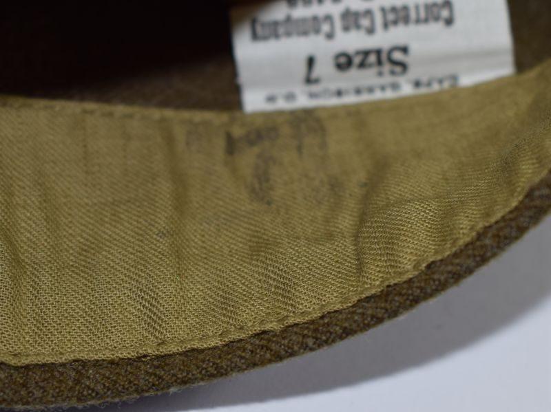 Original WW2 US Army OD Garrison Cap Dated 1944 & Quartermaster Corps Badge