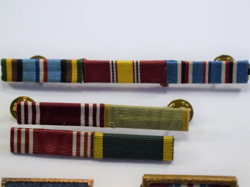 Set of 5 Original WW2 Post War? US Army Medal Ribbon Bars