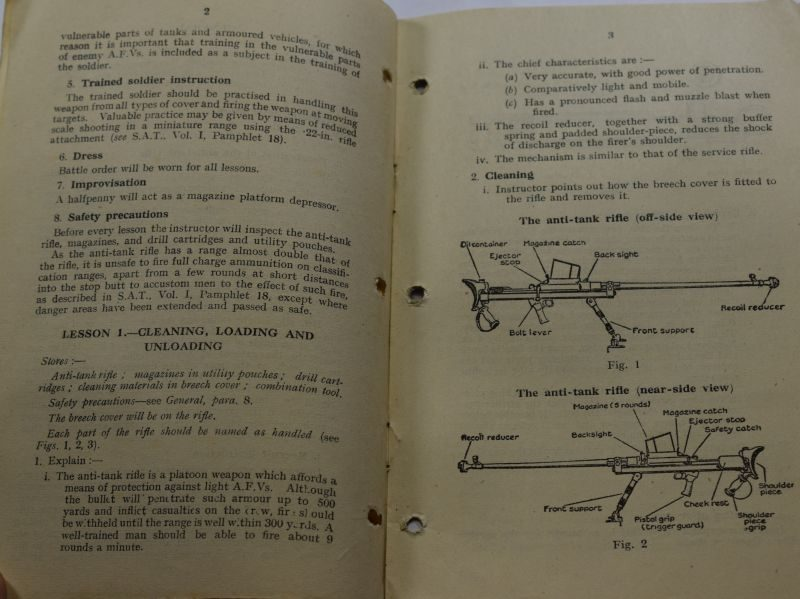 DD WW2 Small Arms Training Vol I Pamphlet No 5, Anti-Tank Rifle 1942