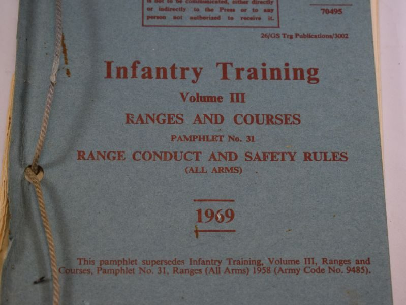 AG Infantry Training Vol III Ranges & Courses, Pamphlet No 31. Range conduct & Safety Rules 1969