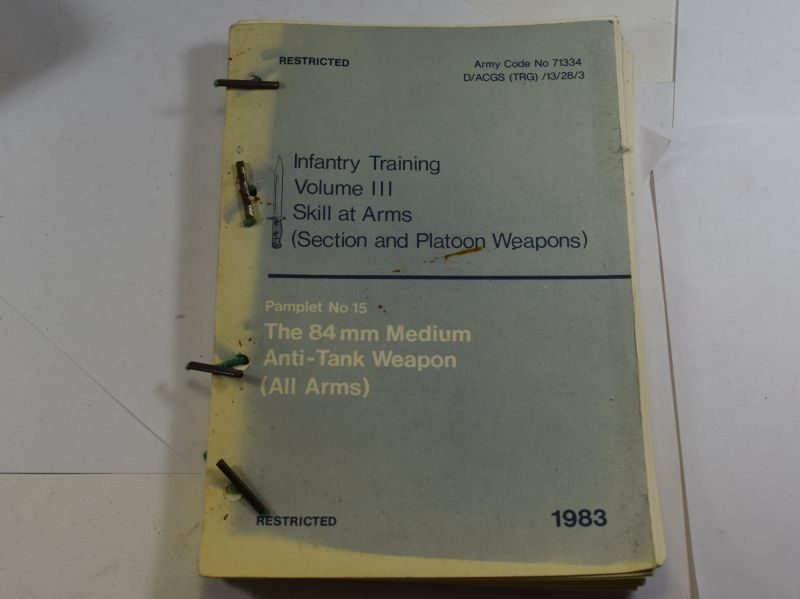 AF Tatty 1983 Infantry Training Volume III Skill At Arms No15 The 84 MM Medium Anti-Tank Weapon