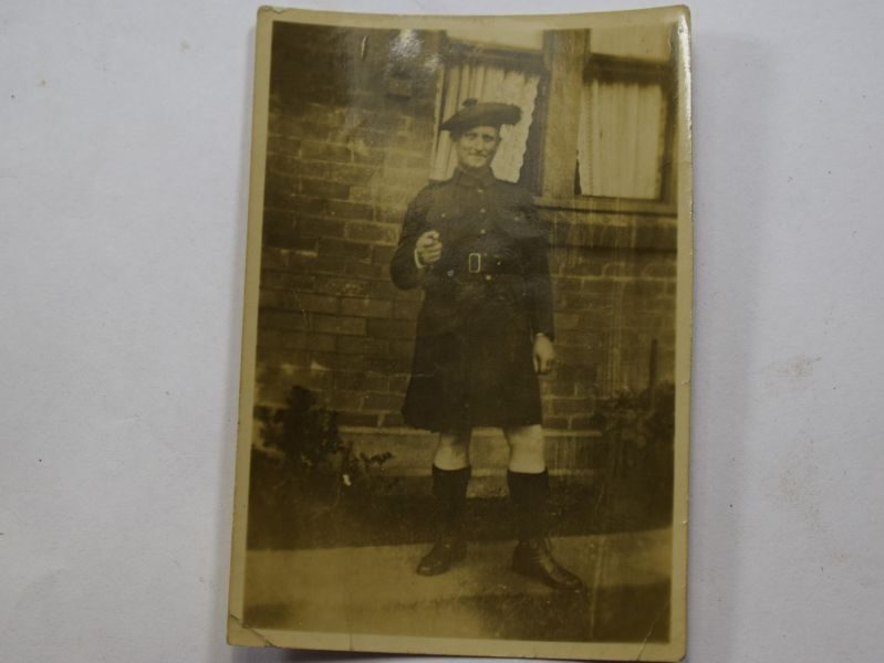 TT Original Small WW2 Photo of Sgt Major Jock MacHam, Black Watch