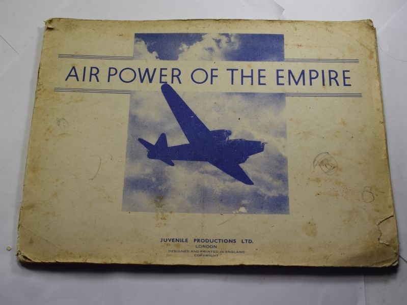 WW Original 1930s-WW2 Large Air Power of The Empire Picture & Info Book.