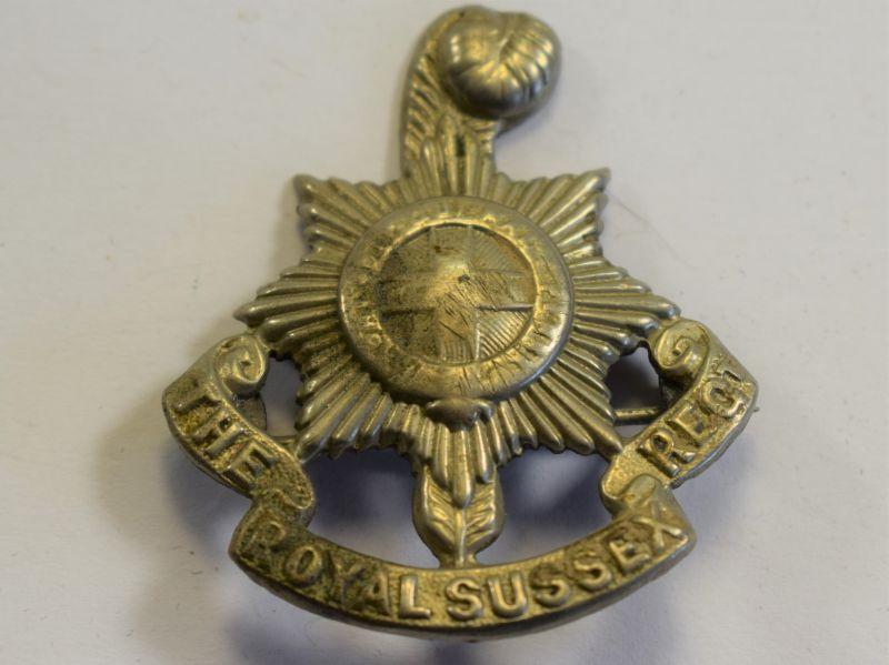32 An Original WW1 WW2 Pin Badge The Royal Sussex Regiment