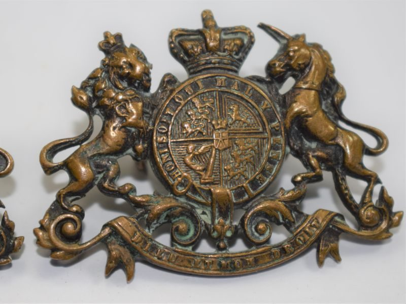 40 An Original Pair of Victorian General Service Collar Badges