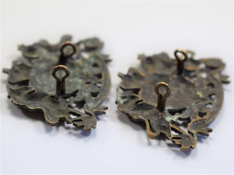 40 An Original Pair of Victorian General Service Collar Badges
