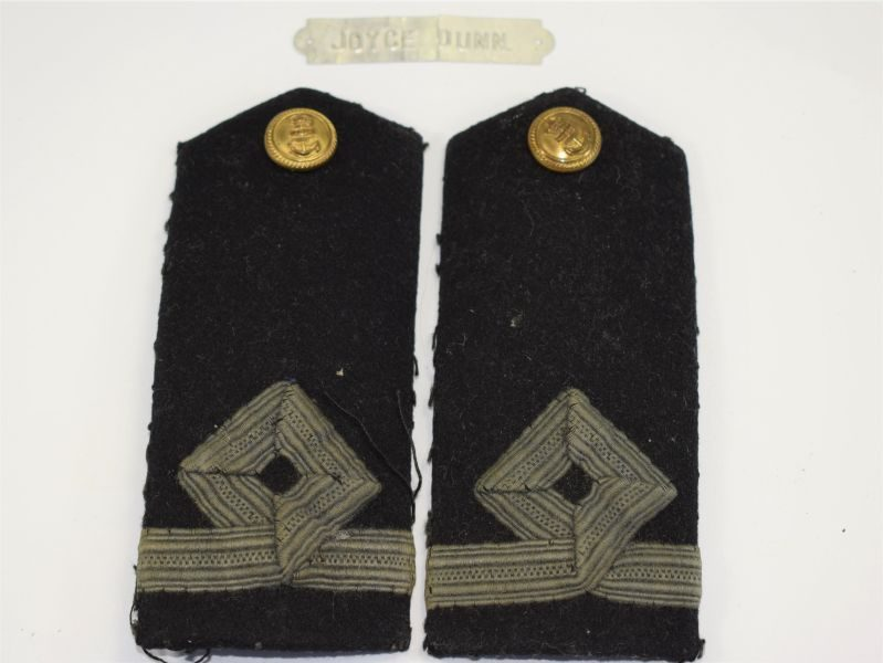 Original WW2 WRNS Officers Epaulettes & Name Tag