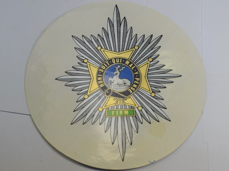 45 Large Post WW2 Worcestershire & Sherwood Foresters Regiment Vehicle Sticker?