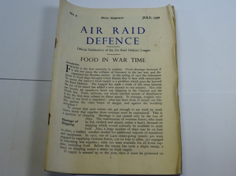 47 Original Air Raid Defence Publication No5 Food In War Time July 1939.
