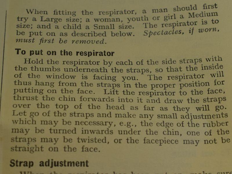 51 Original 1938 Leaflet Assembly & Fitting of Civilian Respirators