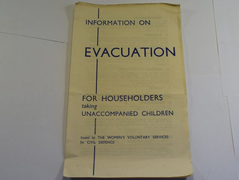 53 Original Wartime Leaflet Information On Evacuation For Householders Taking Unaccompanied Children