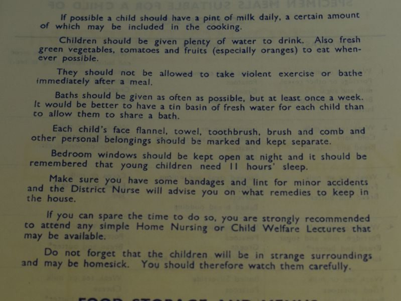 53 Original Wartime Leaflet Information On Evacuation For Householders Taking Unaccompanied Children