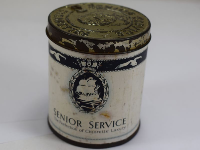 WW2 Era Cigarettes Tin for 50 Senior Service Cigarettes