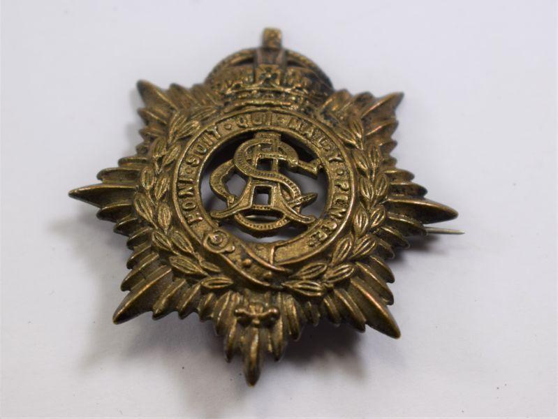72 Nice WW1 Army Service Corps Pin Back Brooch Cap Badge