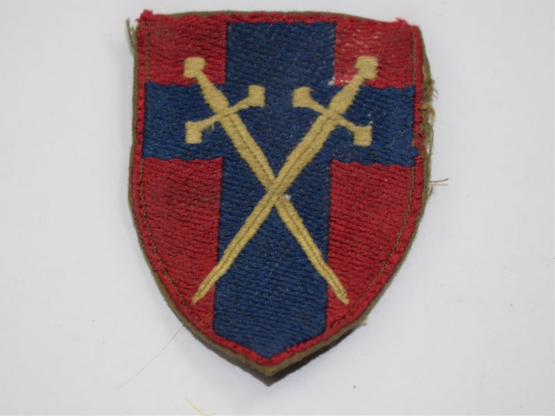 76 Original Early Post WW2 Headquarters BAOR Cloth Badge