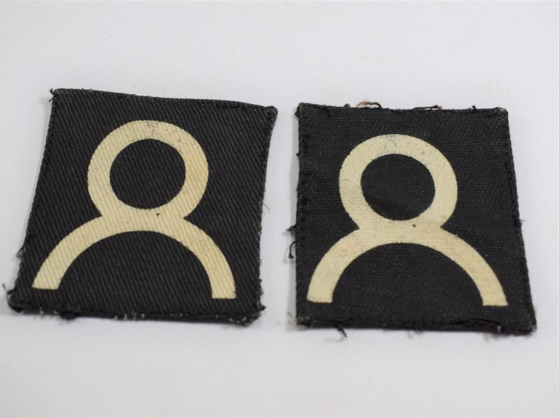 79 Original WW2 British 2nd Army Group RA Cloth Formation Patches