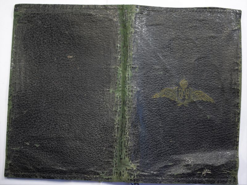 Original WW2 RAF Leatherette Wallet With RAF Wings to Front