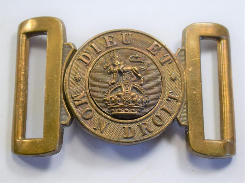 S Original WW1 WW2 General Service Belt Buckle in Brass